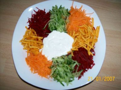 салат ромашка со свеклой рецепт