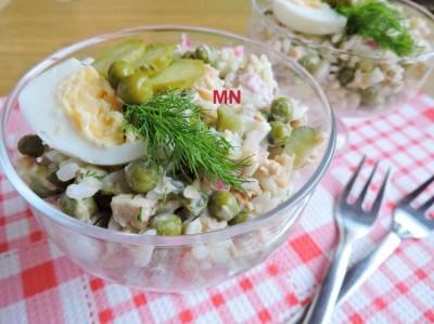 Простой салат с горбушей