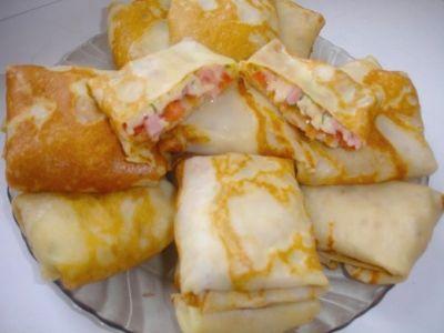 Блины из сыра с начинкой рецепты с фото