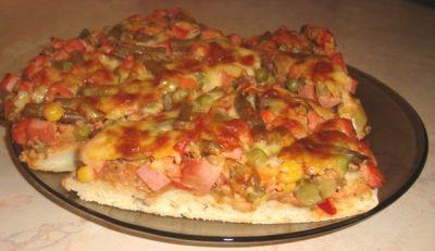 Пицца на блинной муке