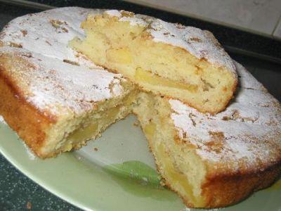 Заливной сладкий пирог на кефире
