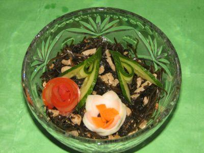 рецепты салатов из сушеной морской капусты