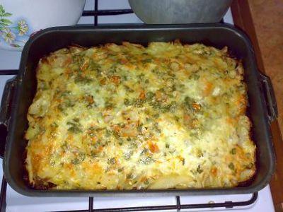 рецепты картошка в духовке с курицей