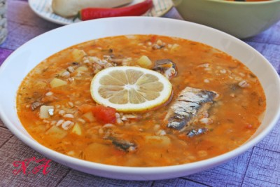 суп из консервы с перловкой рецепт фото