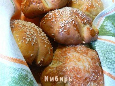 рецепт сметанные булочки с кунжутом