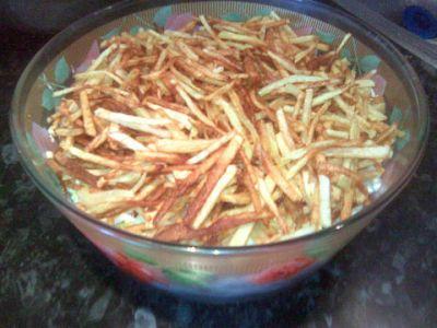 Салат из картошки фри