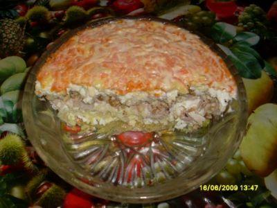 рецепты салатов на день рождения с черносливом