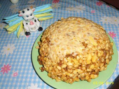 кулинарные рецепты торт муравейник из кукурузных палочек