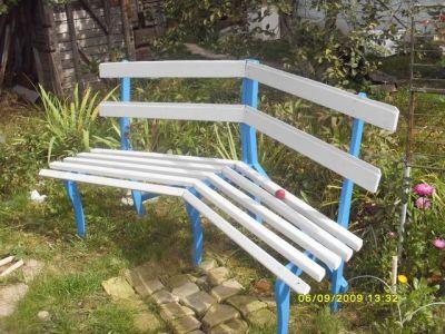Скамейка из школьных стульев своими руками 68