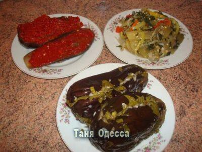 Острая закуска из баклажан(на зиму) Ингредиенты: баклажаны 3 кг помидоры...