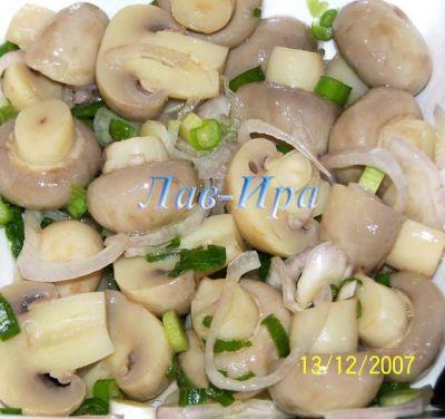 Маринованные грибы заготовка на зиму
