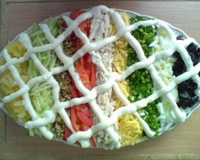 салат выше радуги рецепт с фото