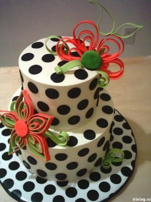 как украсить торт своими руками