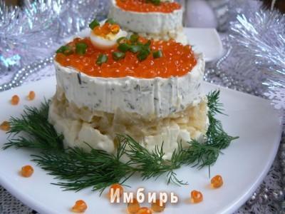 Праздничный икорный тортик