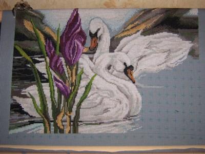 Лебеди в пруду: предпросмотр