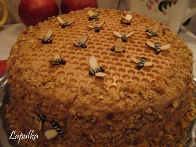 Как сделать пчел на медовый торт 804