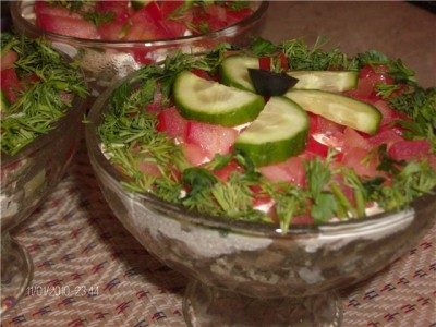 Салат в креманках будапешт