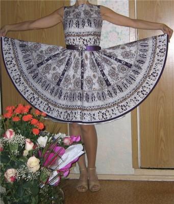 Burda платье в стиле 50 х выкройка