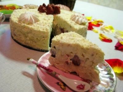 Сливочный торт без выпечки