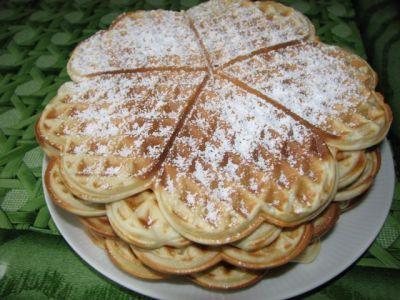 рецепт печеньев в вафельнице