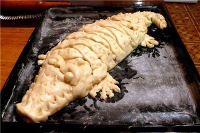 Пирог Крокодил с Мясной начинкой