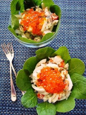 рецепт салата из коктейля из морепродуктов
