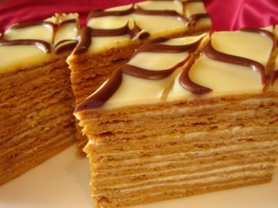 Вкусный торт медовик