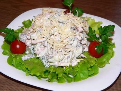 Рецепты салата с языком и грибами
