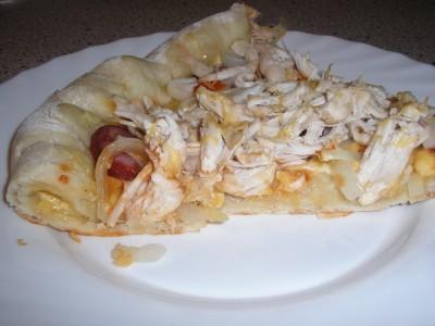 Пицца с чесночным соусом на готовом тесте - рецепт пошаговый с фото