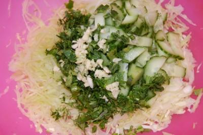Салат только из белокочанной капусты