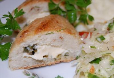 Зразы рыбные с сыром и зеленым луком