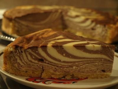 торт зебра творожный рецепт с фото