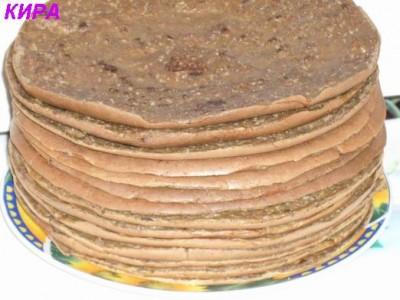 Печеночный торт из тонких блинов рецепт