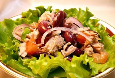 Из тунца с красной фасолью салаты