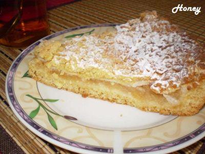 Пирог из яблок из песочного теста рецепт