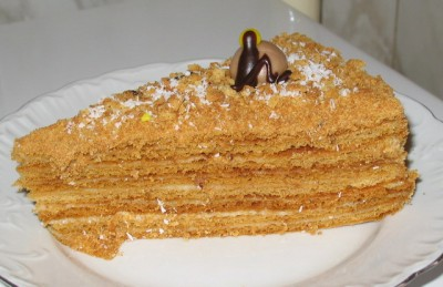 рецепт торта медовс заварным кремом