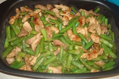 Жаркое из свинины с фасолью