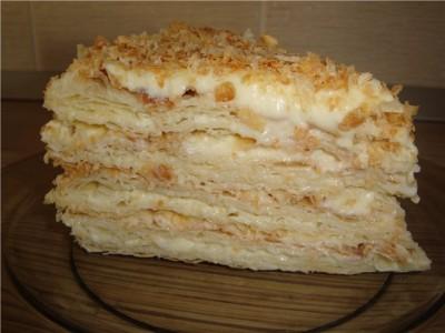 наполеон торт рецепт с заварным кремом рецепт
