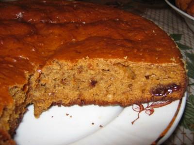 Черный пирог из варенья