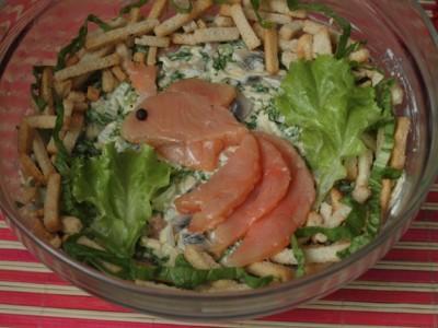 золотая рыбка из красной рыбы салат рецепт
