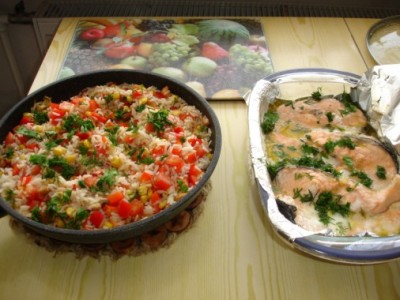 Вкусный гарнир из риса к рыбе