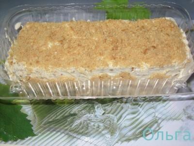 Торт из печенья юбилейного 105