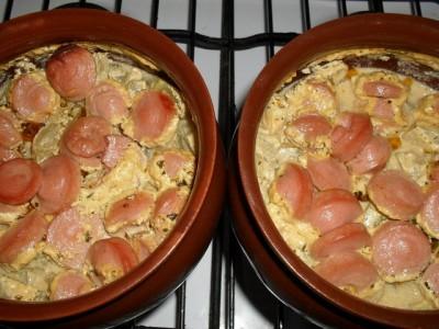 Кабачки с колбасой в духовке рецепт с пошаговый