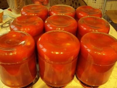 Как сделать помидоры в собственном соку