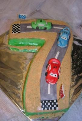 Торт цифра 7 мальчику своими руками