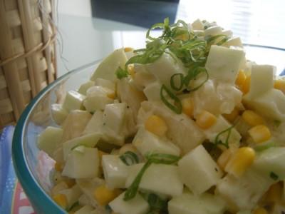 Салаты с луком пореем и ананасом рецепты