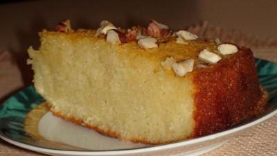 Турецкий пирог из манки