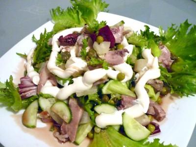 Буржуйский салат с курицей рецепт
