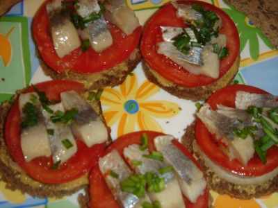 Простой рецепт приготовления b закуски/b из сельди с картофелем в...