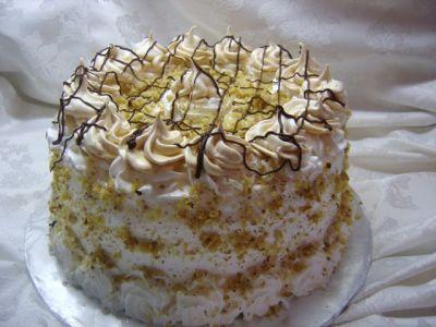 торт с белковым кремом рецепт